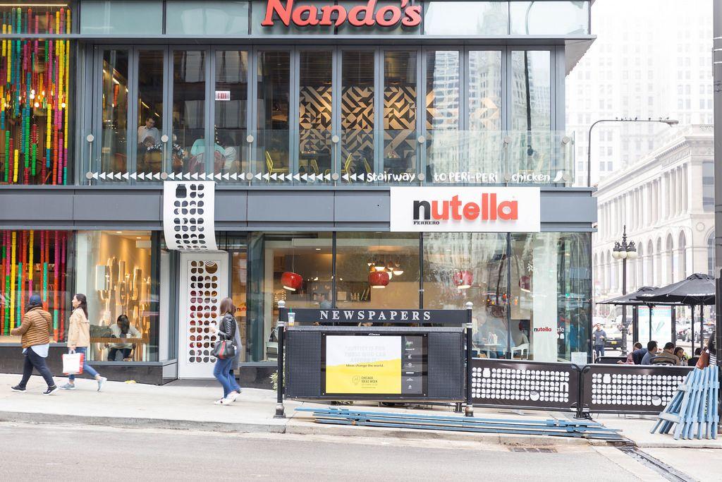 Nutella Ferrero store in Chicago
