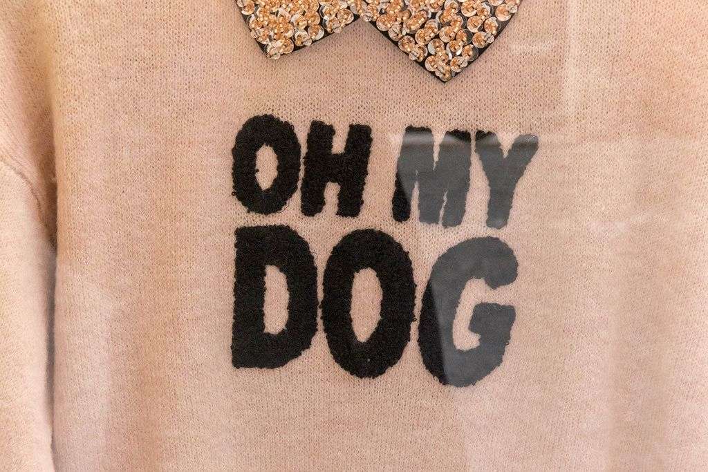 Oh my dog - Aufschrift auf einem Pullover