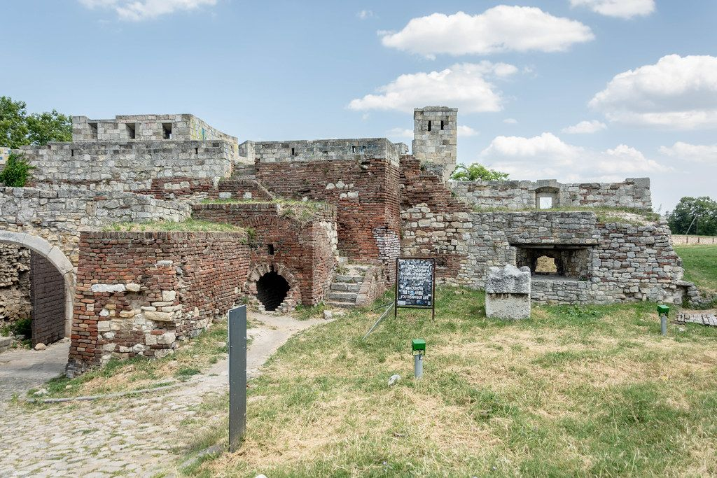 Old Kalemegdan Fortress in the Belgrade Serbia