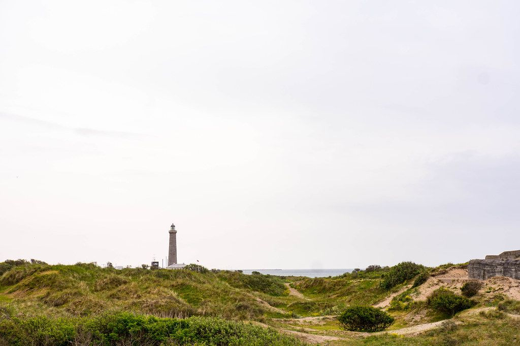 Old lighthouse in Skagen, Denmark with the sea in the background (Flip 2019)