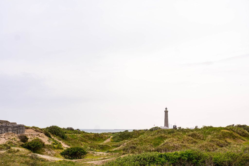 Old lighthouse in Skagen, Denmark