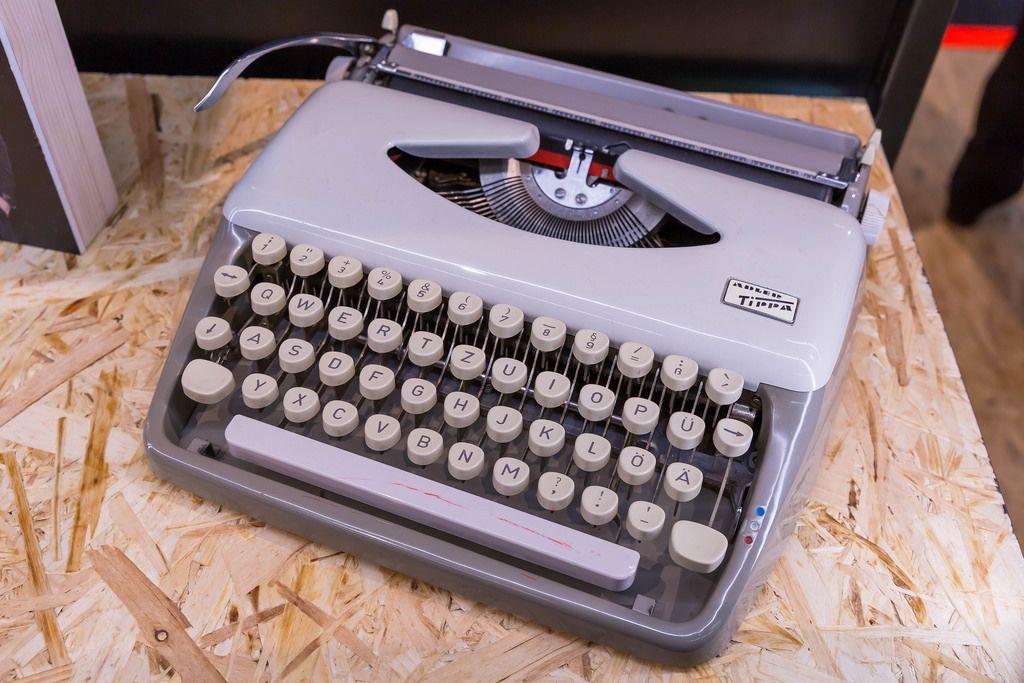 Old vintage typewriter at Photokina in Köln