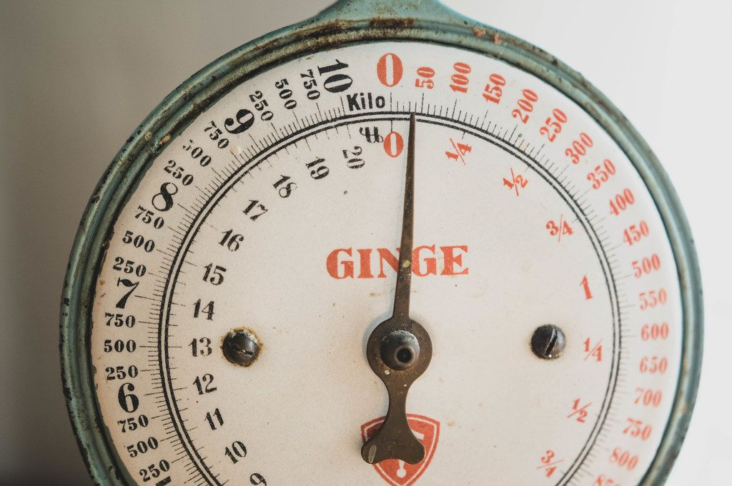 Old weighing scale