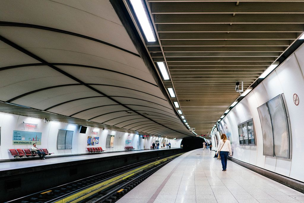 Omonia metro station in Athens, Greece