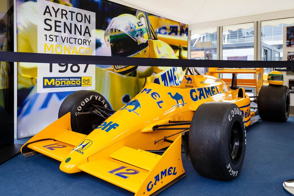 Original Ayrton Senna's  Racing Bolid McLaren-Honda in Monaco 1987