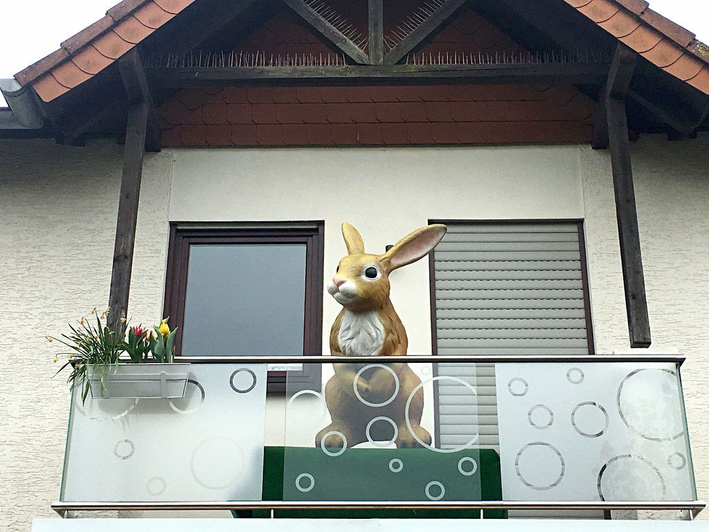 Osterhase / Typical German House with Easter Decoration