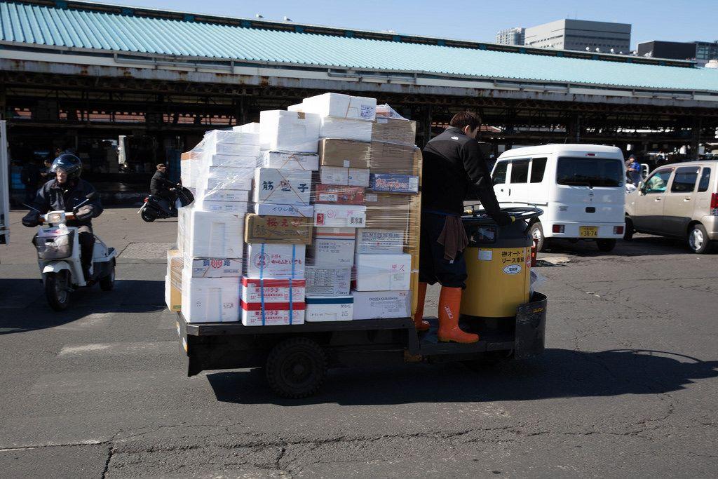 Paketzusteller - Tokyo, Japan