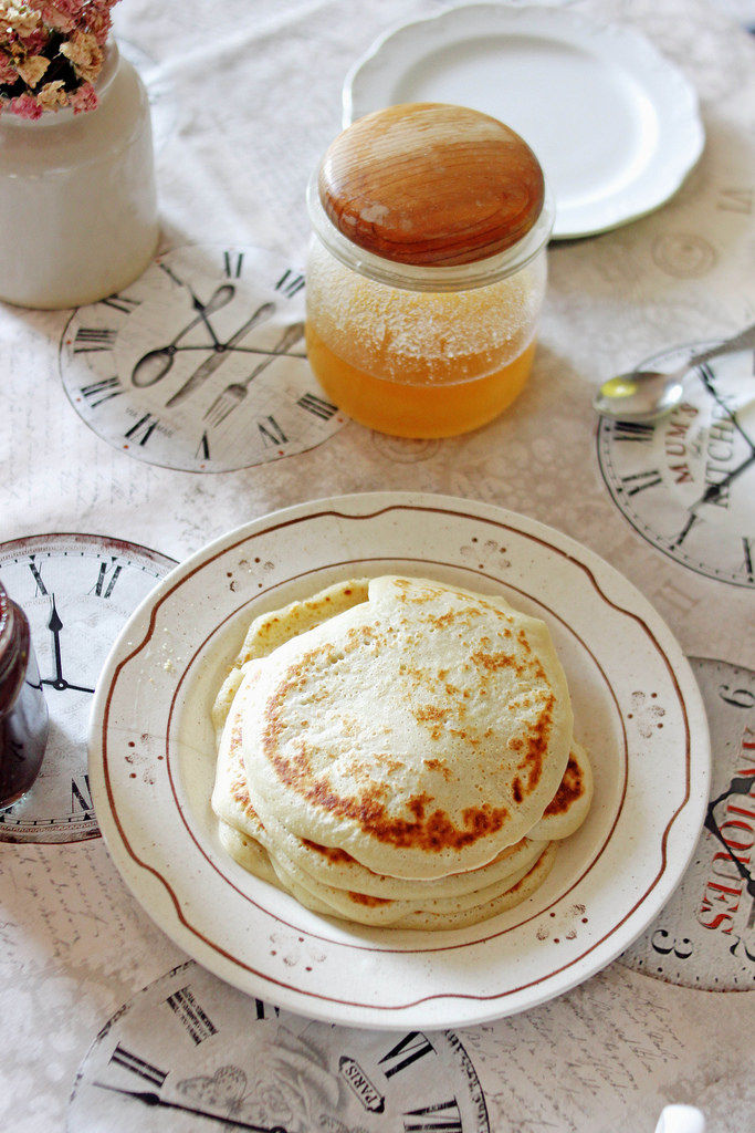 Pancakes mit Honig
