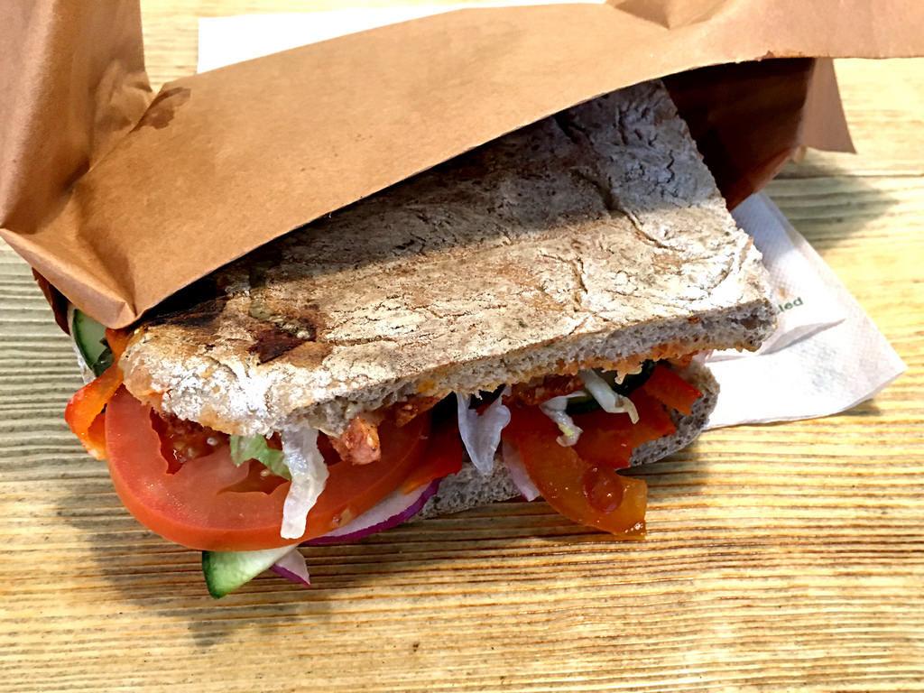 Panini: Tandoori-Chicken-Sandwich