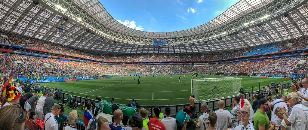 Pano im Luschniki-Stadion während des Spiels Deutschland-Mexiko - WM 2018