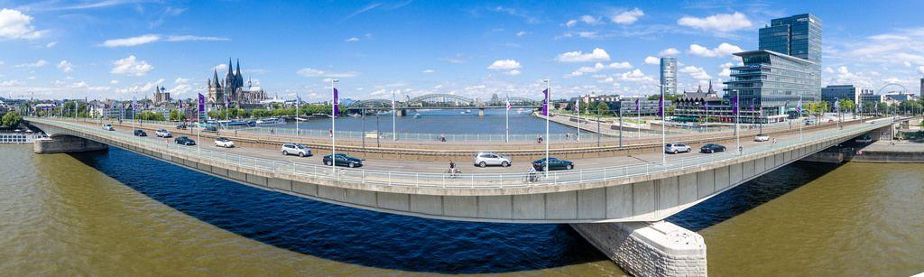 Panorama: Deutzer Brücke Köln