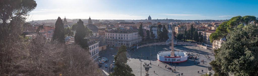 Panorama: Piazza del Popolo