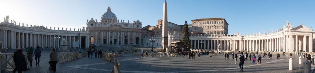 Panorama vom Petersdom in Rom, Italien