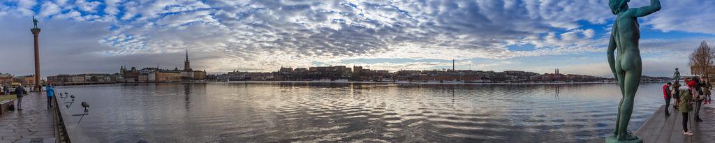 Panoramafoto auf Stockholm