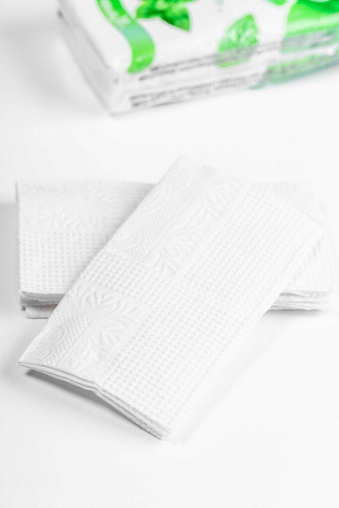 Paper handkerchiefs on white background (Flip 2019)