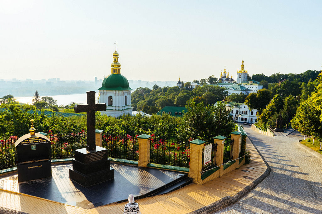 Park in the territory of Kiev Pechersk Lavra / Park im Gebiet der Kiewer Lawra