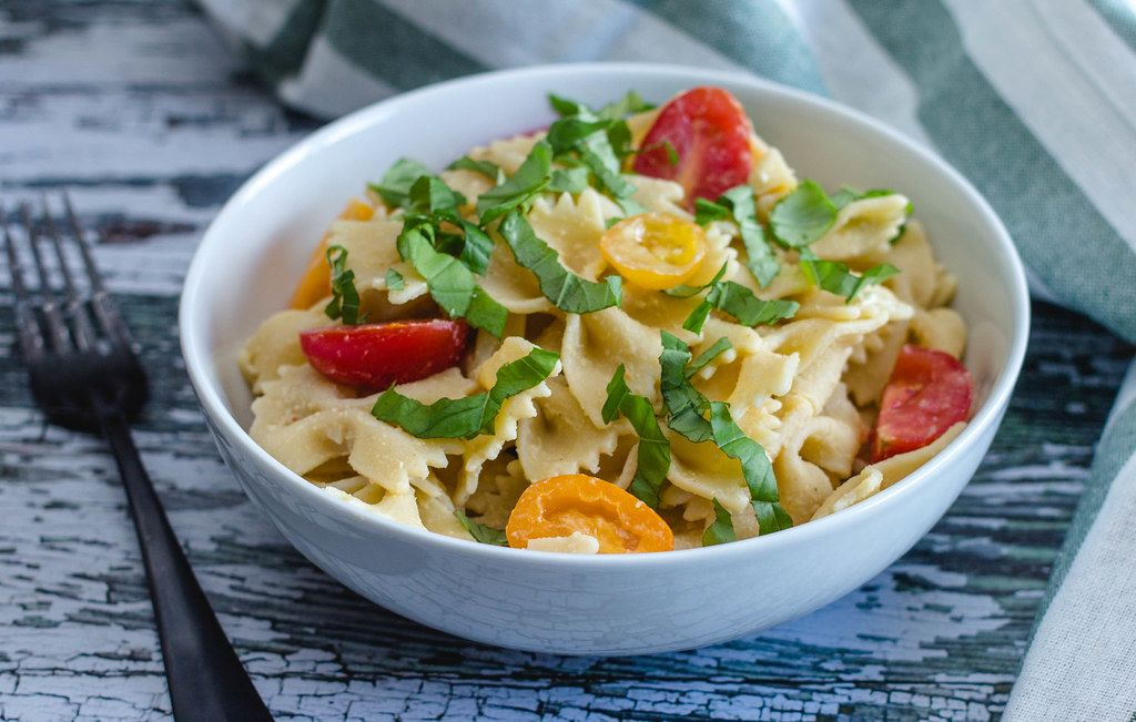 Pasta with Fresh Basil and Tomatoes (Flip 2019)