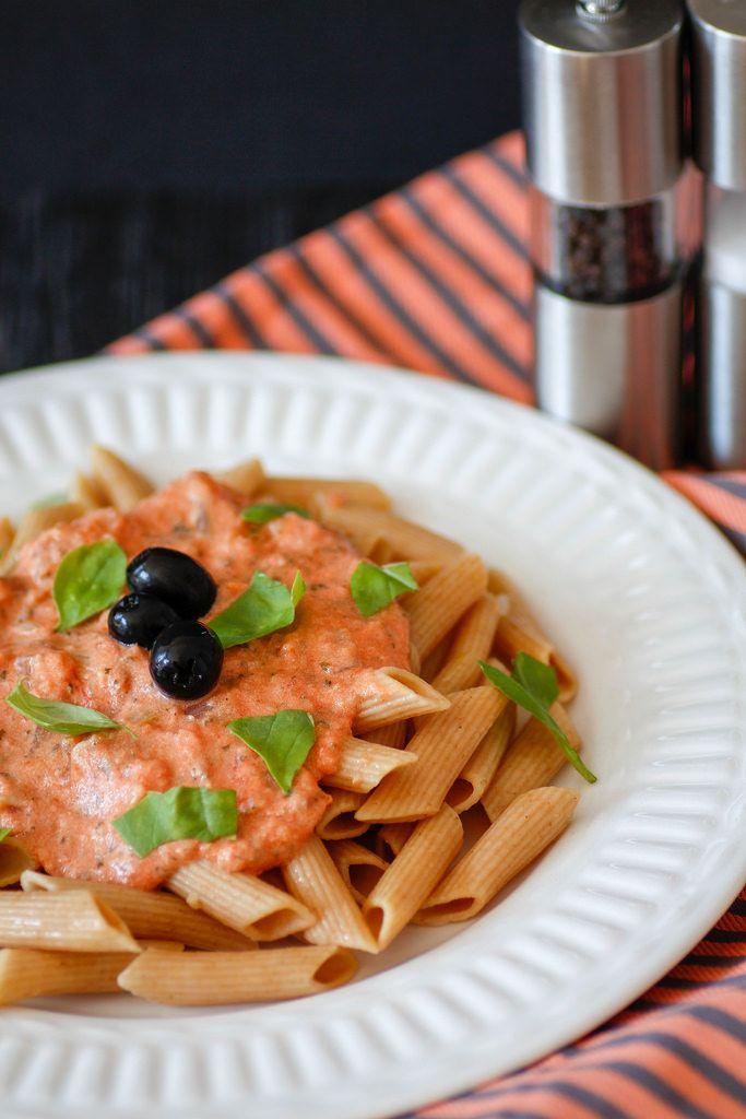 Pasta with Vodka Sauce close-up