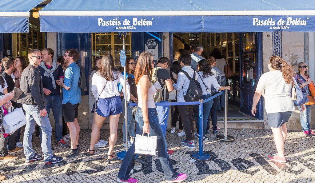 Pastéis de Belém: Warteschlangen