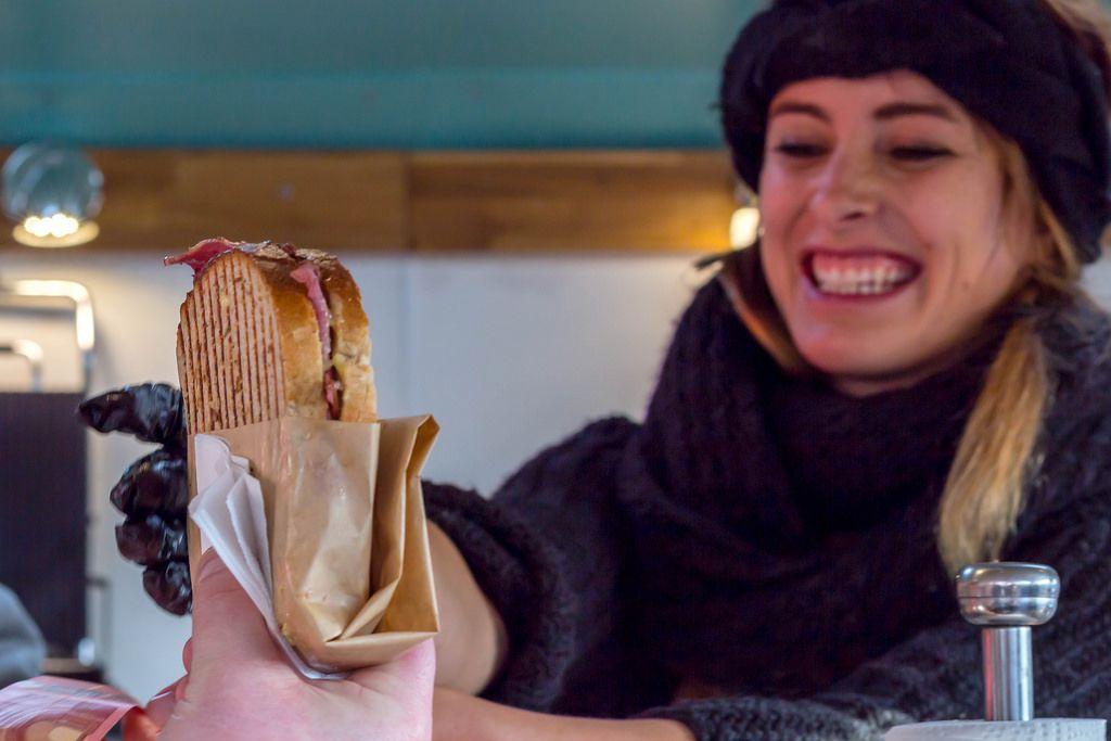 Pastrami Burger-Sandwich