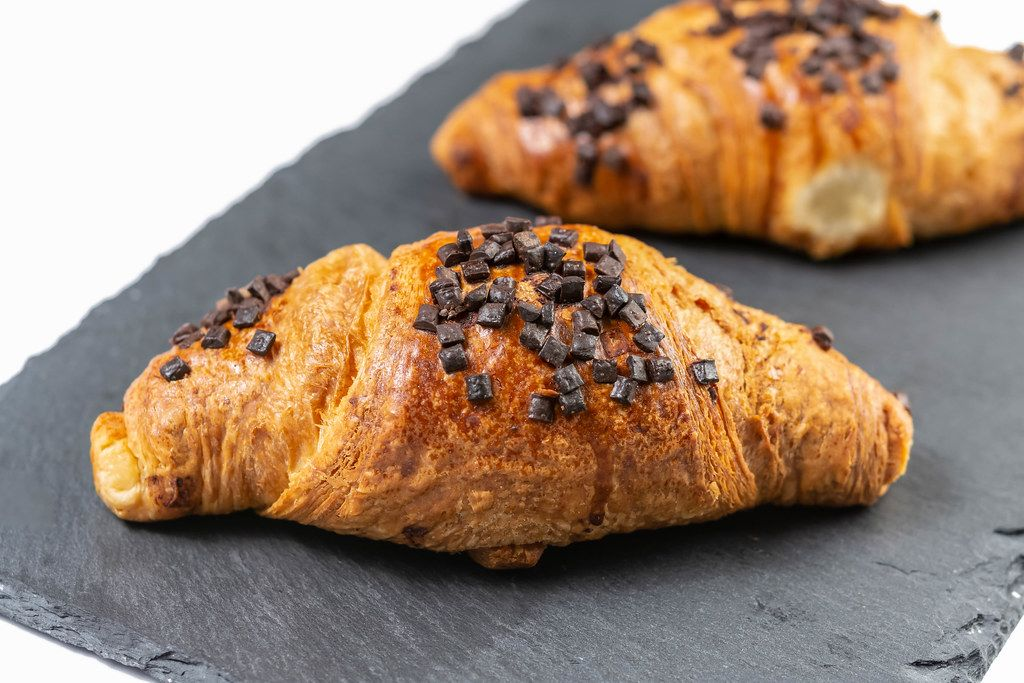 Pastry Croisant with Chocolate Crumbs on the top