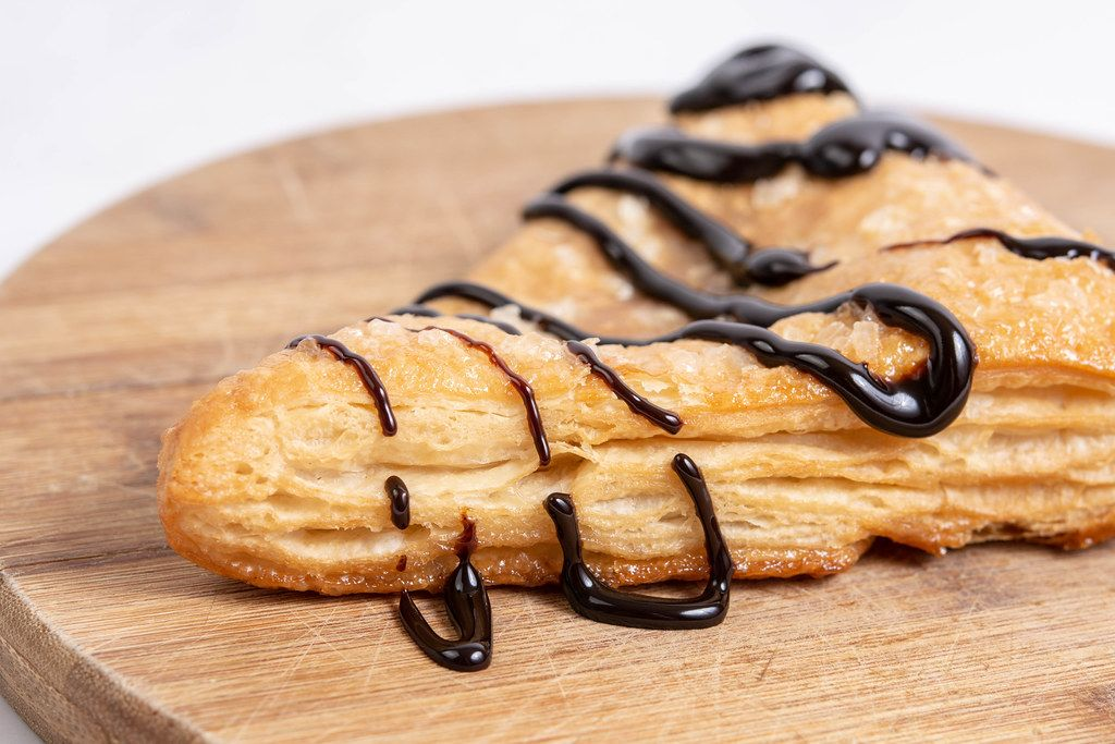 Pastry with Chocolate topping