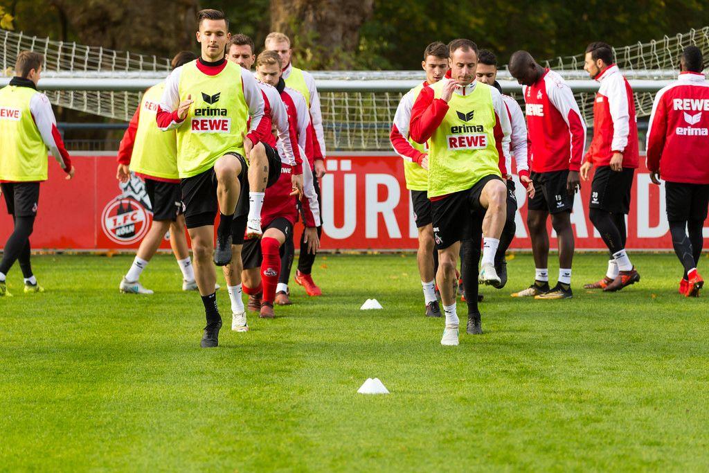 Paweł Olkowski and Matthias Lehmann during Training