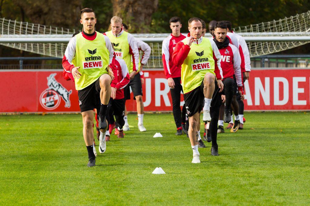 Paweł Olkowski und Matthias Lehmann beim Training