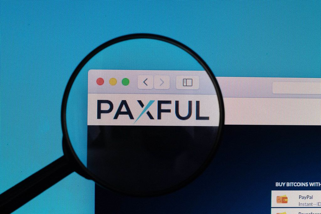 Paxful logo under magnifying glass