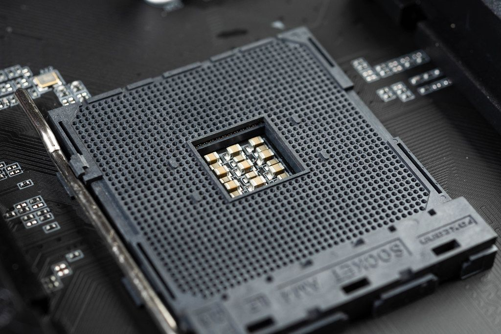 PC Prozessor Slot am Computer Motherboard