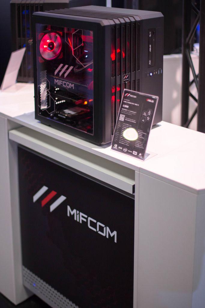 PC von MifCom bei der Gamescom 2017