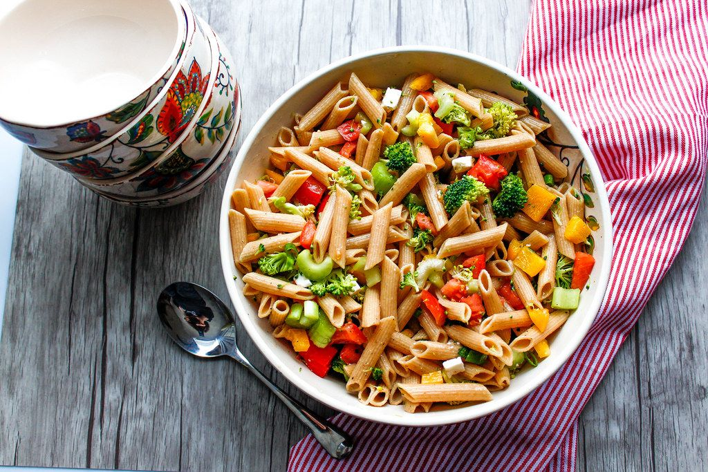 Penne  with Broccoli, Pepper and Tomatoes
