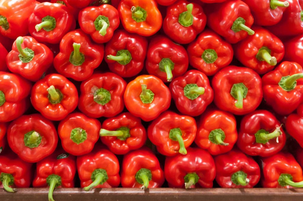 Peppers in Whole Food Market Boston