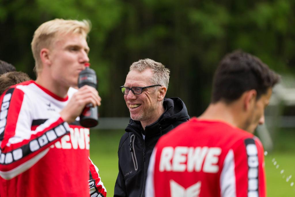 Peter Stöger lachend