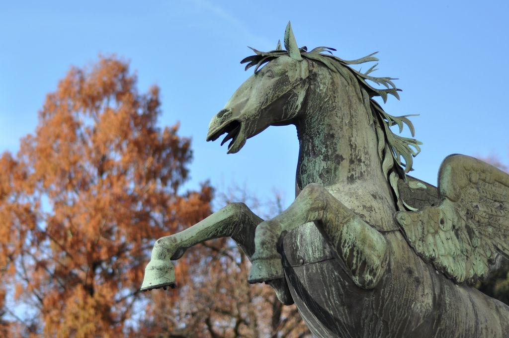Pferdestatue im Mirabellgarten, Salzburg