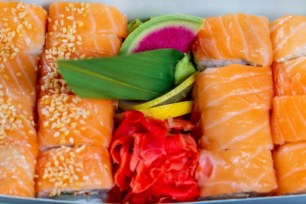 Philadelphia Sushi in verschiedenen Sorten in einer Box