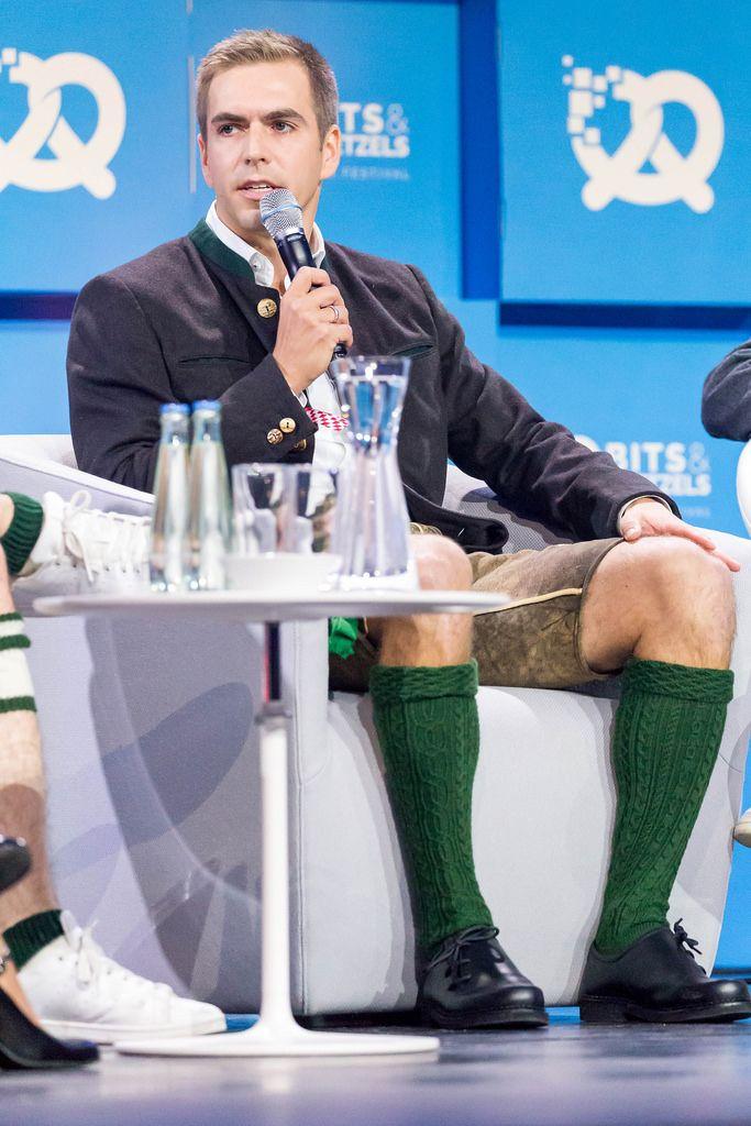 Philipp Lahm in Lederhose