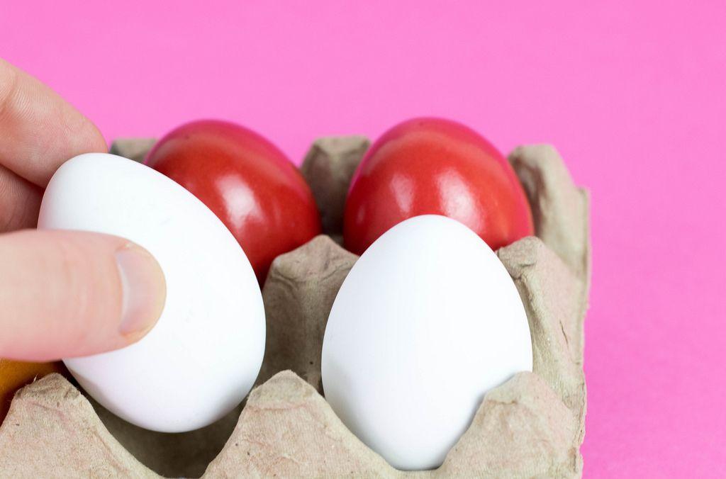 Picking egg