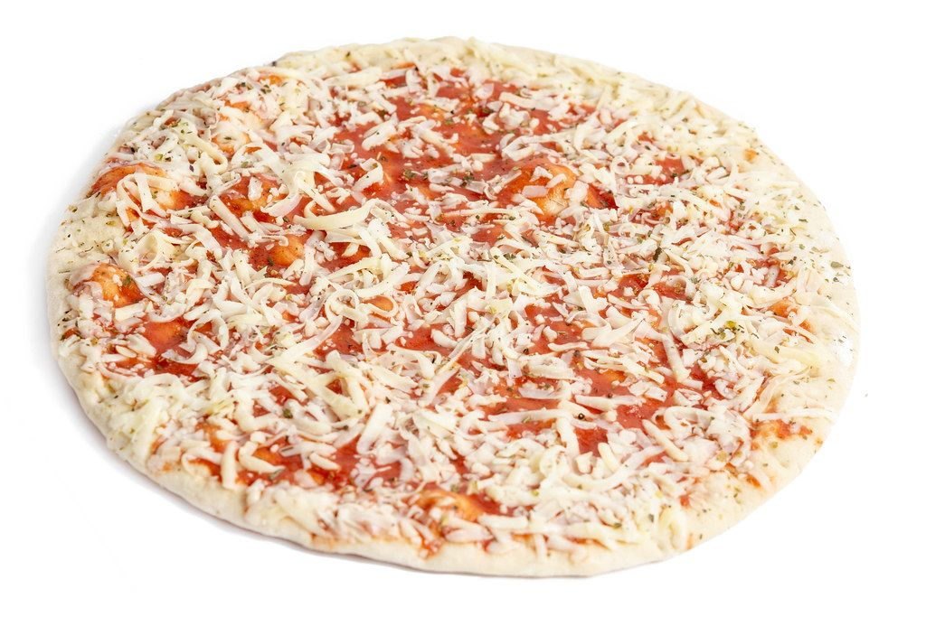 Pizza Margharita isolated above white background
