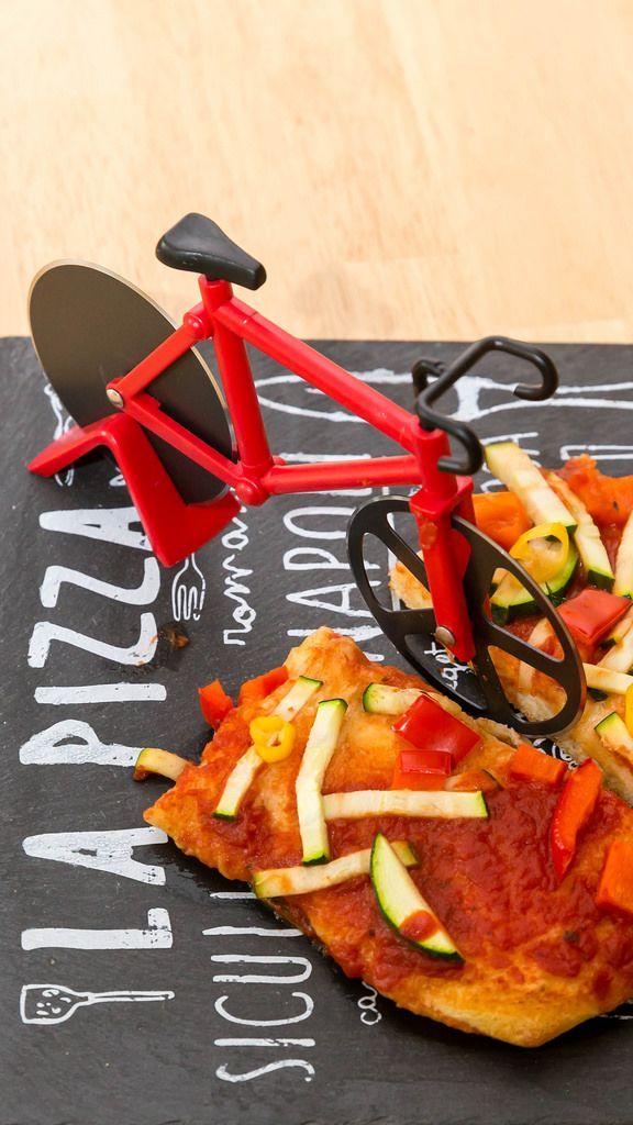 Pizzamesser in Form eines Rennrads
