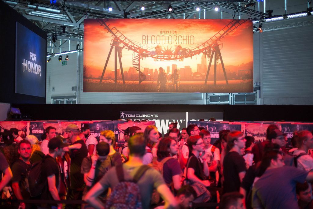 Plakat von Operation Blood Orchid bei der Gamescom 2017