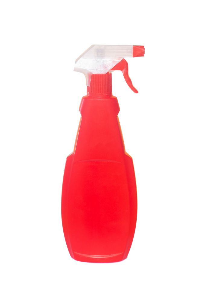 Plastic bottle of cleaning product isolated on white background (Flip 2019) (Flip 2019) Flip 2019