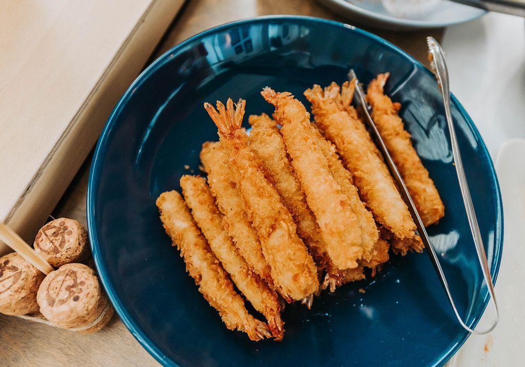 Plate Of Fried Shrimps