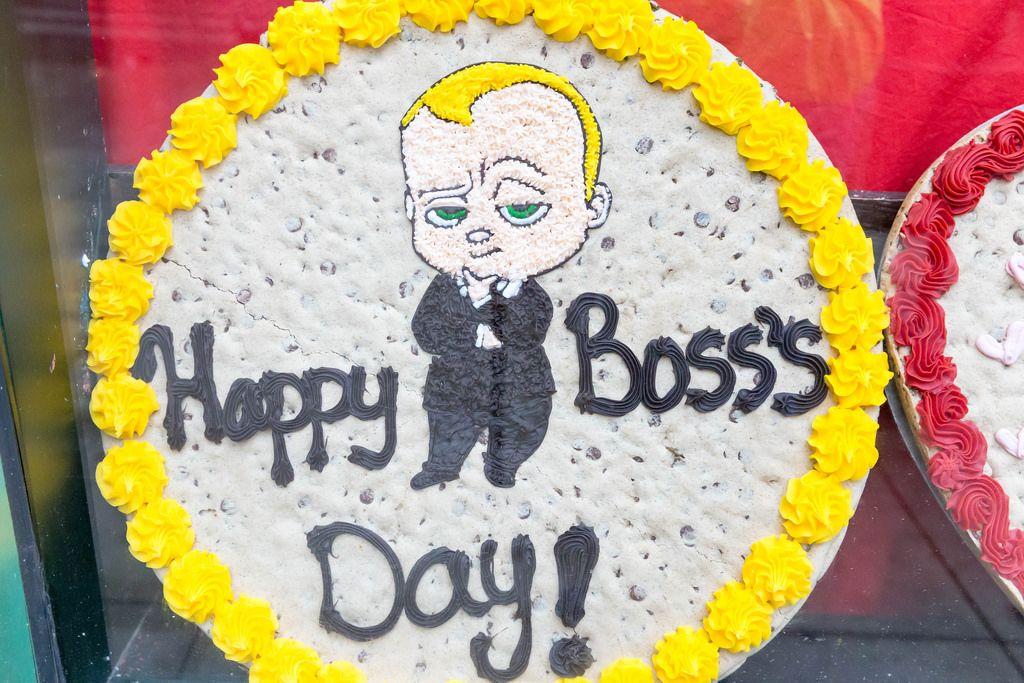 Plätzchen-Kuchen Happy Boss Day von Mr. Fields
