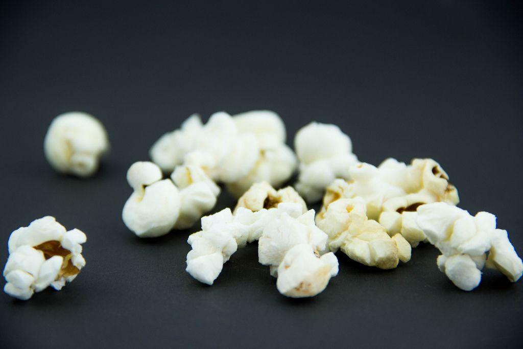 Popcorn in a Black Background