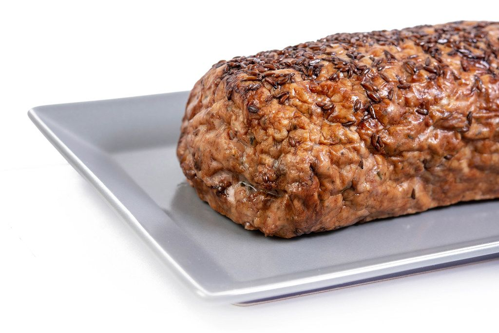 Pork and Chicken Meat Loaf on the plate
