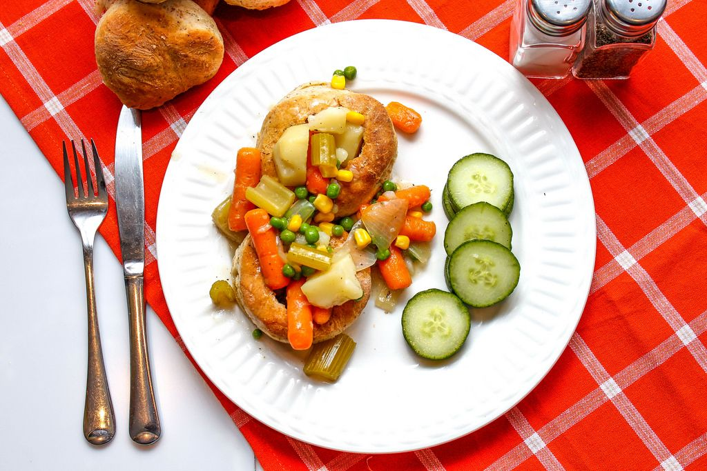 Pot Pie with Carrot, pea and Potatoes