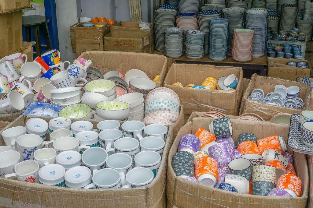 Pottery sold at a Street Vendor at Kasturi Walk in Kuala Lumpur