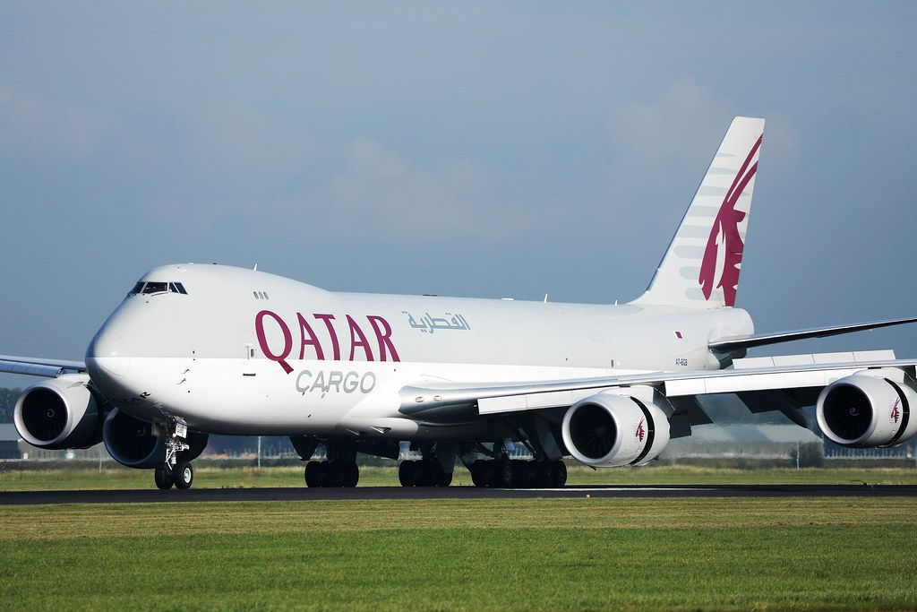 Qatar Cargo Boeing-B747 am Amsterdam Schiphol Flughafen