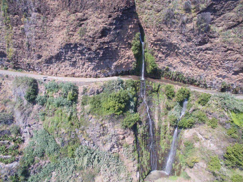 Quelle entlang der Levada des 25 Fontes auf Madeira